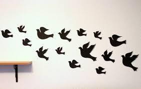 attractive birds in flight wall decor for bird wall art black birds flying black birds by