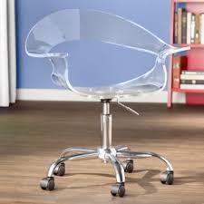 acrylic office chair. mikayla desk chair acrylic office