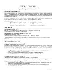 Mba Application Resume