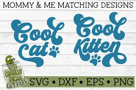 Sweet coloring pages with cute kittens from 44 cats series. Cool Cat Cool Kitten Matching Svg Cut Files Crunchy Pickle Svg Cut Files