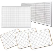 dry erase grid lined whiteboards xy