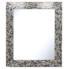 luxe mosaic glass framed wall mirror
