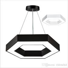 modern office hexagon led pendant lights minimalism metal pendant fixtures luminaria lampares led hanging light suspension lighting fixture ceiling lighting