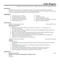Restaurant Resumes Examples Fast Food Restaurant Resume Examples
