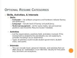 Examples Of Hobbies And Interests For Job Application Examples Of