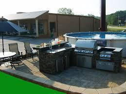 Complete Outdoor Kitchen Kitchen Gorgeous Outdoor Kitchen With Red Brick Grill Island