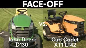 John Deere Lawn Tractor Comparison Chart Tractor Face Off John Deere Vs Cub Cadet Consumer Reports