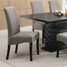coaster home furnishings 102062 contemporary side chair set of 2 dark grey fabric dining room