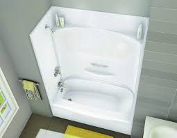 one piece tub shower units ideas combo 2649bw saver in wall set corner stall menards