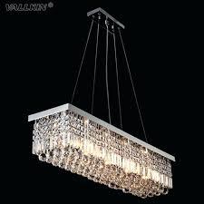modern rectangular crystal chandeliers pendant light dining room length led ceiling lamp with 6 lights to wine barrel chandelier uk
