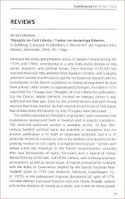 peter forsskal thoughts on civil liberty reviews thomas munck review