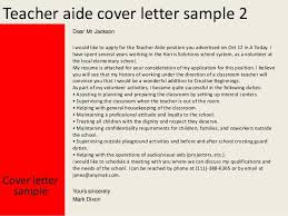 Teacher Aide Cover Letter Sample Dear Jackson For Teachers Position