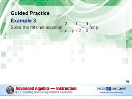 guided practice example 3 solve the rational equation for y