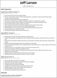 Resume Administrative Assistant Sample Free Medical With No