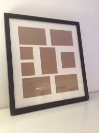 dark brown multiple photo frame