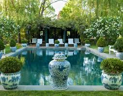 inground pool landscaping ideas plants friendly trees best around fern garden mixed shade shady loving beside