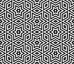 Arabic Pattern Abstract Triangle Background With Arabic Pattern Vector