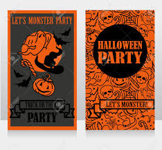 Pumpkin Invitations Template Template For Halloween Party Invitations With Cartton Traditional