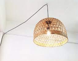 bamboo basket pendant lighting
