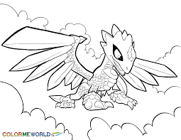 Small Picture Flashwing Coloring Page Skylanders Coloring Pages Pinterest