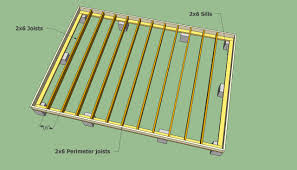 Small Picture Storage shed floor joists Remise en L Pinterest Storage