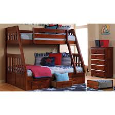 Discovery World Furniture Merlot Twin over Full Mission Bunk Bed | Acadia |  Stanford