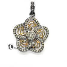pave diamond flower pendant jewelry pave flower pendant diamond jewelry 92 5 silver jewelry