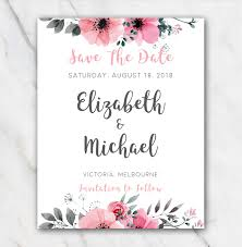 Save The Date Template Word Wedding Save The Date Template For Word Pink Flowers