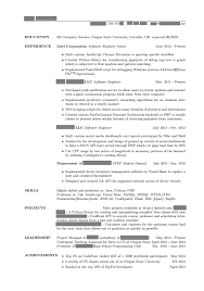 Undergraduate Resume Computer Science Resume For Study