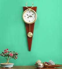 brown stag pendulum wall clock by