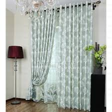 Elegant Light Green Polyester Insulated Living Room Curtains