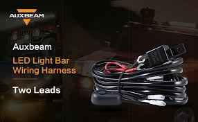 amazon com auxbeam wiring harness for led light bar 12v 40amp fuse auxbeam wiring harness auxbeam wiring harness two leads