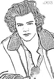 Coloring Download. Harry Styles Coloring Pages: Harry Styles ...