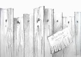 Vector Watercolor Wooden Fence Stock Vector Illustration of sketch