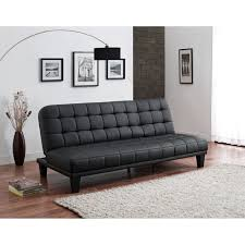 wade logan malone convertible faux leather futon sofa in black for home furniture ideas