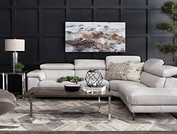 Living room design furniture Metal Modern Living Room With Tess Piece Power Reclining Sectional Wraf Chaise Living Spaces Living Room Ideas Decor Living Spaces