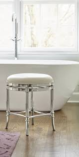 chrome vanity bench. Simple Chrome Stool Must See Freshen Up In Your Master Bath With Service From Our  Bailey Vanity Chrome Inside Bench