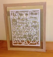 the more you dr seuss quote paper cut floating frame mooseandbeardesign