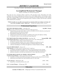 Restaurant Experience Resume Sample Professional Experience For Accomplidhed Restaurant Manager Resume 2