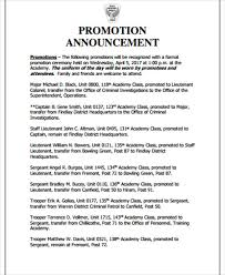 Employee Promotion Announcement Template