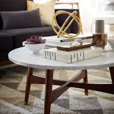 round marble coffee table decor