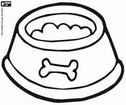 Kom Vol Hondenvoer Kleurplaat Zwierzeta Domowe Dog Bowls Dogs
