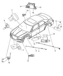 2007 chrysler 300 sensors body diagram i2163776