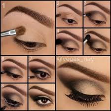 cat eye makeup via brown smokey eyes