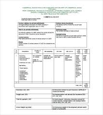 Export Invoice Template Commercial Invoice Format Export Quickbooks