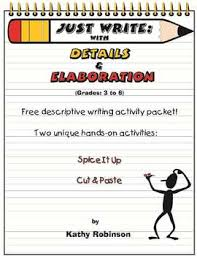 descriptive writing activities examples rd th th th grade