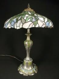 antique stained glass lamp tiffany style table double bulb 20 s not reion