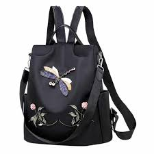 Women Oxford <b>Solid Anti theft Backpack Bag</b> Personality Wild ...