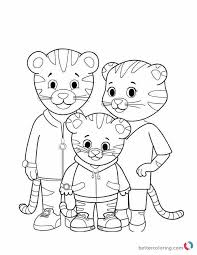 Daniel The Tiger Coloring Pages Free Printable Coloring Pages