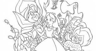 Small Picture alice in wonderland coloring pages tim burton Archives Cool